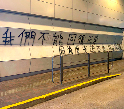 'We can't return to normal, because the normal that we had was precisely the problem' (Hong Kong graffiti). Is the pandemic a chance for a positive reset?